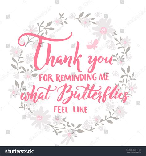 valentines thank you quotes thank you reminding me what butterflies stock vector