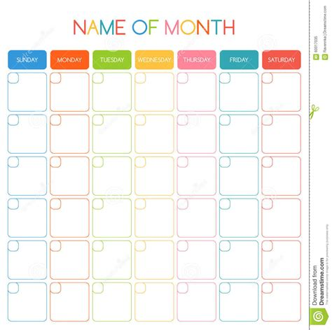 12 month blank calendar calendar template 2016