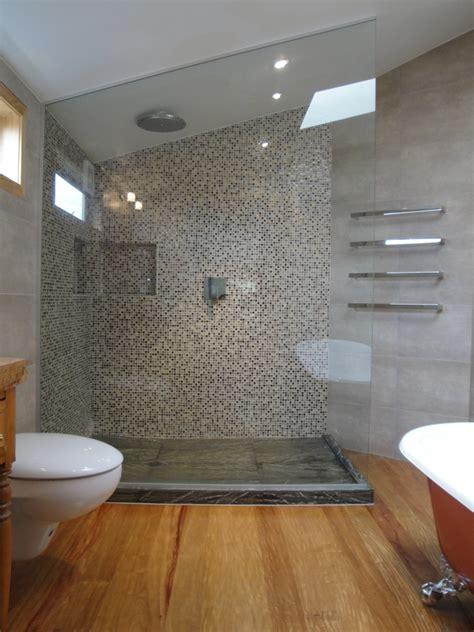 stunning bathroom  hardwood flooring