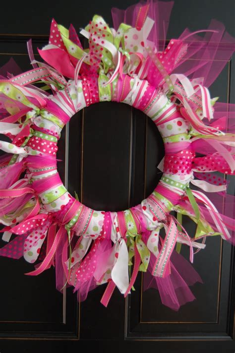 diy wreath maddyson s ribbon wreath diy