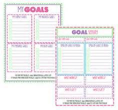 goal journal template goals to improve myself free printable free printable
