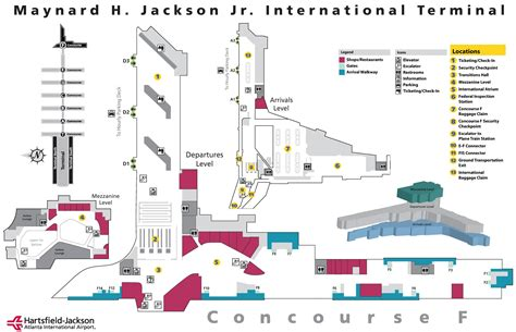 atl terminal map map of atlanta airport map3