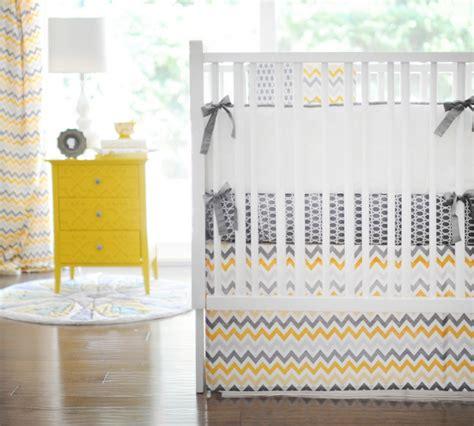 yellow chevron crib bedding chevron crib bedding roundup project nursery