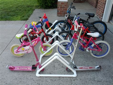 Pvc Bike Rack For someday crafts pvc pipe bike rack