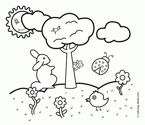 coloring pages free printable spring coloring pages kids