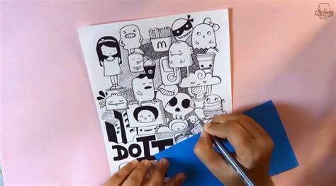 cara membuat doodle dengan mudah cara membuat doodle 3 tahap dasar belajar kreatif