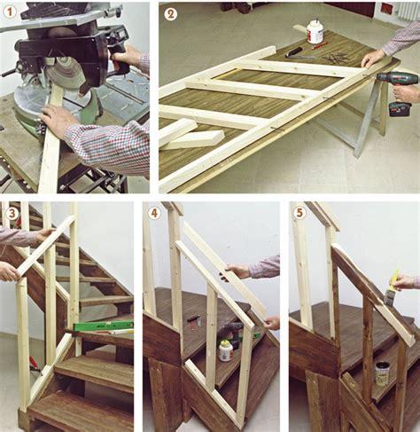 ladario fai da te legno come costruire una scala a giorno in legno di
