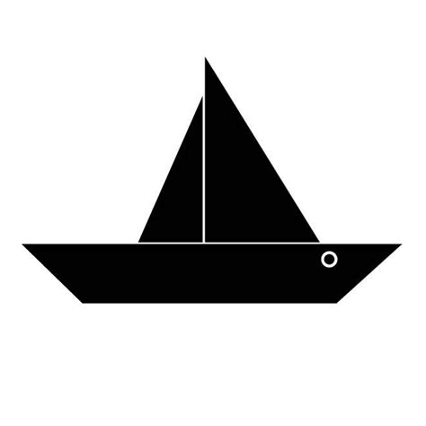 paper boat clipart black and white paper boat download at vectorportal