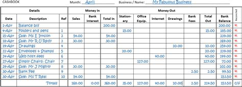 Single Entry Bookkeeping Household Bookkeeping Template