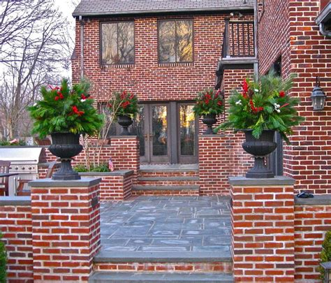 red brick house with grey siding red brick and stucco house exterior traditional with red