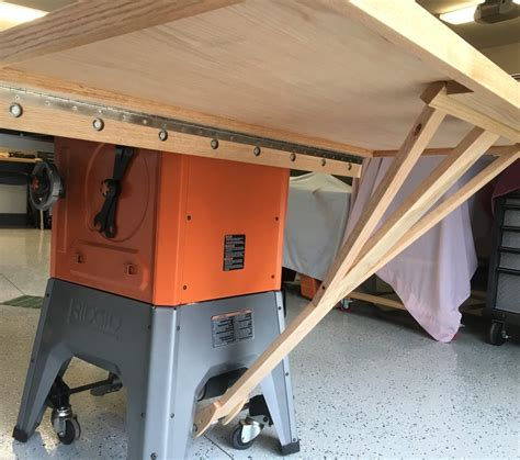 ridgid r4512 extension table ridgid r4512 tablesaw outfeed table by mikemccind