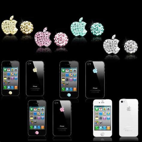 iphone home button decoration crystal bling decoration home button logo stickers for