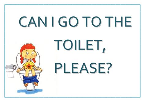 I To Go To The Bathroom In by Poster Quot Can I Go To The Toilet Quot
