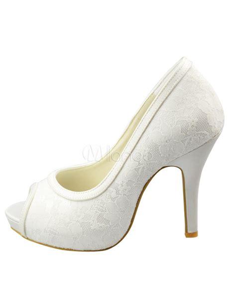 ivory lace pumps milanoo