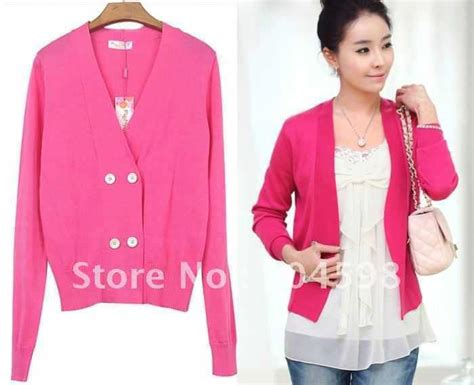 Baju Outer Blazer Boyfie Denim Fashion Wanita cardigan pink murah gray cardigan sweater