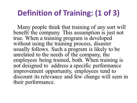 online tutorial definition chapter 3 three concepts of training ppt video online