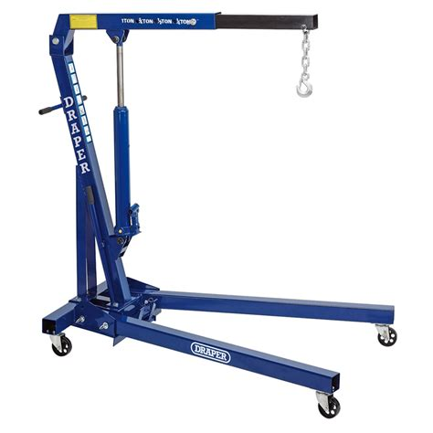 draper workshop  tonne kg folding engine crane hoist lift  ebay
