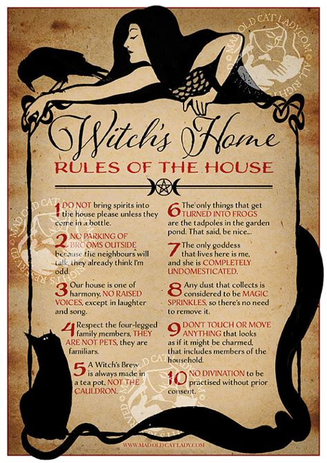 House Rules Design Your Home by Witch S Home Rules Of The House A4 Art Print Witches