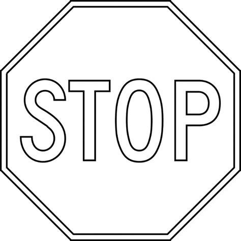 stop outline clipart etc