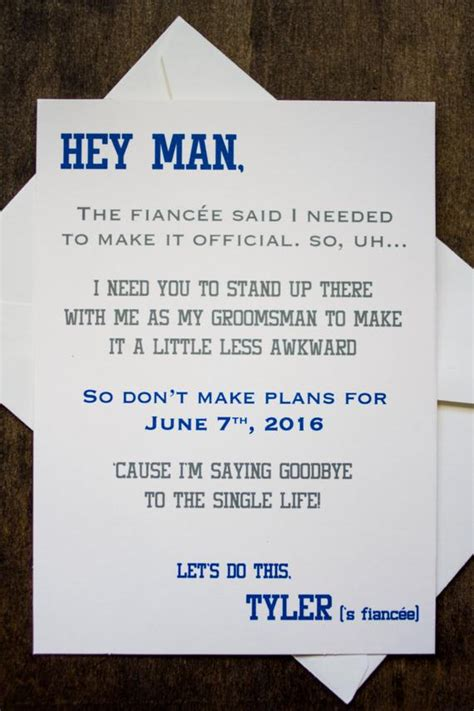 Groomsman Card Invite Will You Be My By Foreverymomentco On Etsy Free Groomsman Card Template