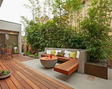 gartengestaltung terrasse terrasse mauerscheiben und holz gartengestaltung terrasse