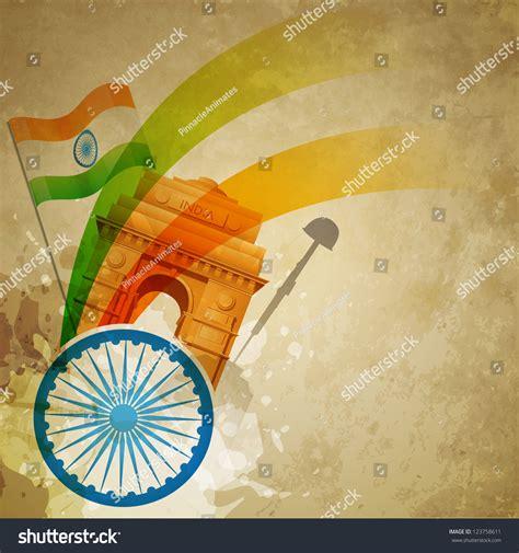 vector patriotic indian flag design art