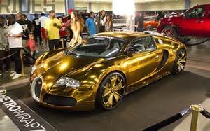 Bugatti Veyron Gold Plated Gold Bugatti For Rapper Like Putting A Moustache On The