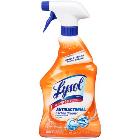 lysol power kitchen cleaner spray  fl oz jetcom