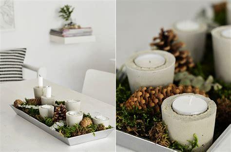 weihnachtsdekoration tisch selber machen basteln mit beton zu weihnachten freshouse