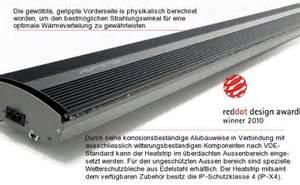 infrarot dunkelstrahler terrasse heatstrip dunkelstrahler infrarotw 228 rme ohne rotlicht