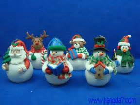 polymer clay handmade craft christmas figure with led