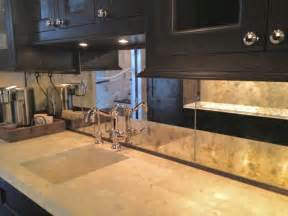 antiqued mirror kitchen backsplash kitchen chicago by karesh mirrors unlimited inc