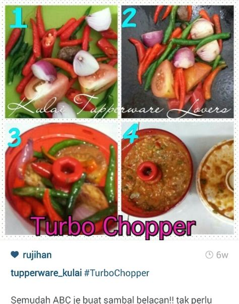 Turbo Chopper Merah Tupperware turbo chopper tupperware perlengkapan mpasi praktis