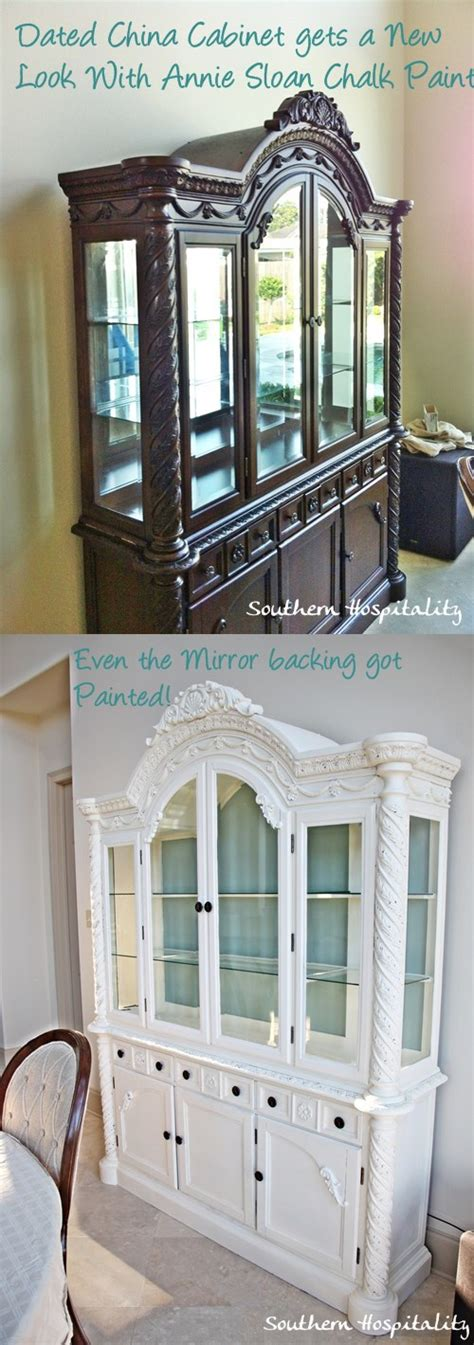 chalk paint old china cabinet update an old china cabinet an ashley china cabinet