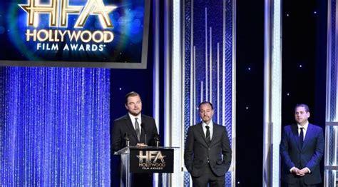 film dokumenter hollywood terima penghargaan film leonardo dicaprio sindir donald