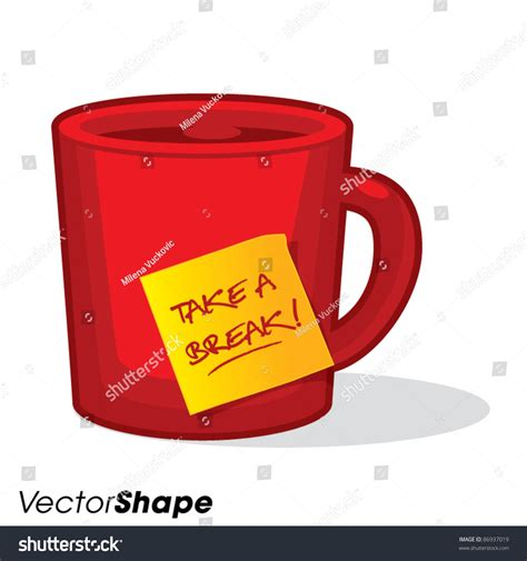 A Tastetea Reminder And Free Tea Offer by Style Tea Coffee Cup Take Stock Vector 86937019