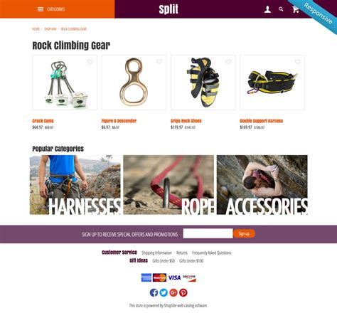 shopsite templates shopsite built in split template