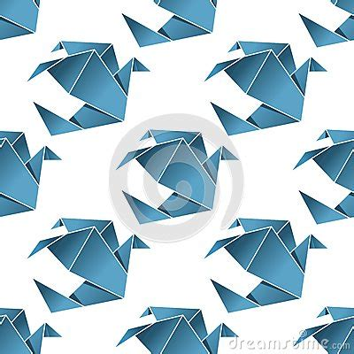 origami japanese paper folding web page seamless pattern of origami birds stock vector image