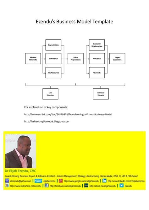 Ezendu S Business Model Template Component Business Model Template