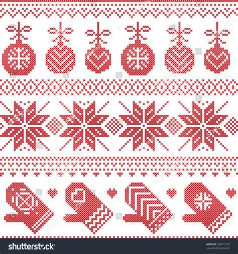 nordic christmas pattern vector scandinavian nordic seamless christmas pattern xmas stock