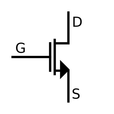 simbol transistor mosfet file mosfet n ch sedra svg wikibooks open books for an open world