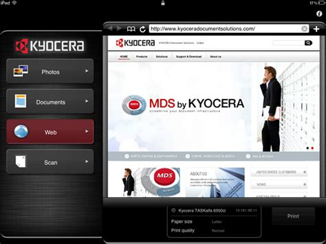 kyocera mobile print kyocera mobile print mobile cloud document solutions