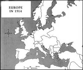 Outline Map Of The World 1914 by Vanweringh11 Term 1 Ww1