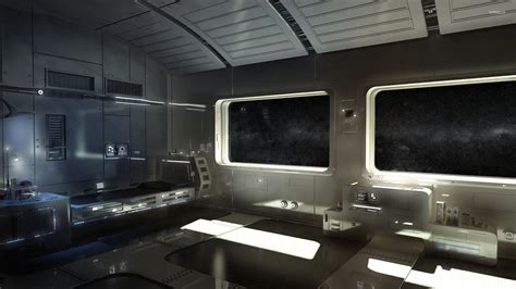 spaceship bedroom spaceship interior wallpaper fantasy wallpapers 29480