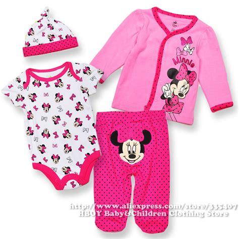Piyama 4pcs brand dis 4pcs set minnie mouse baby clothing