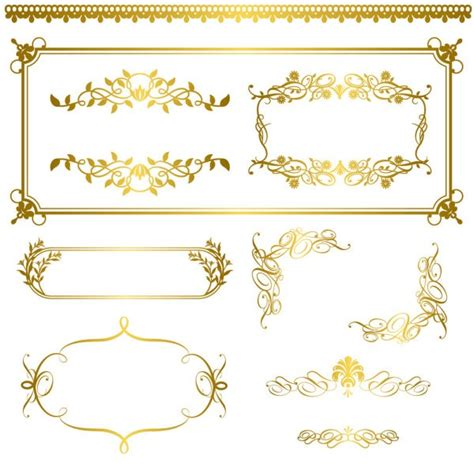 gold pattern border gold lace pattern vector material my free photoshop world