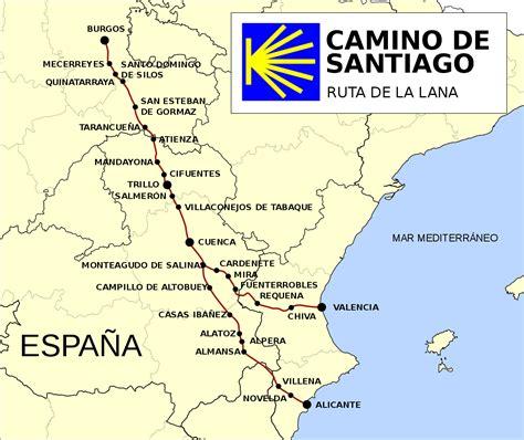 history of camino de santiago file ruta camino de santiago de la svg
