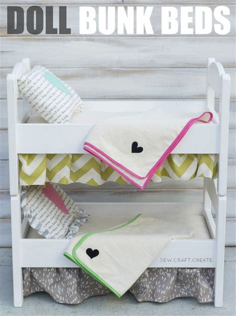 how to make a doll bed diy linens for a doll bunk bed craftfoxes