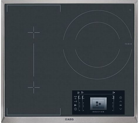 electric induction hobs uk buy aeg hk683320xg electric induction hob black free delivery currys