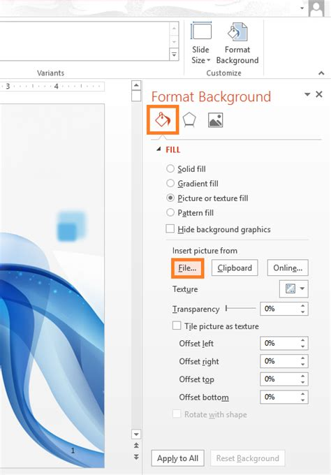 how to choose a slide background for powerpoint